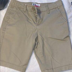 P.S. Aeropostale Girls Khaki Shorts